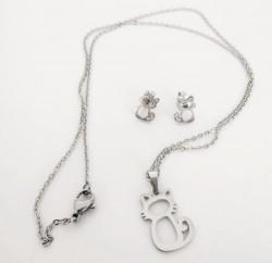 Ocelová sada šperků křížek
