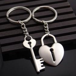 Zamilované klíčenky pro páry Srdce a klíč