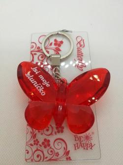 Přívěšek, klíčenka motýl s nápisem Jsi moje sluníčko