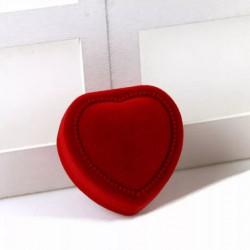 Dárková krabička červená na šperky, černý vnitřek
