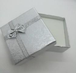 Dárková krabička na šperky stříbrná