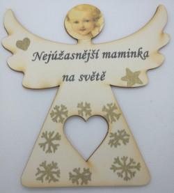 Dřevěný anděl Nejúžasnější maminka na světě