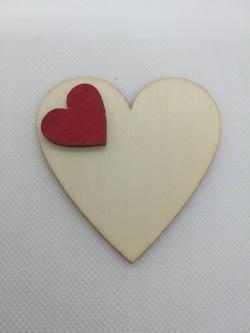 Srdce 6x6 cm, magnetka s vlastním věnováním