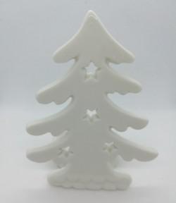Vánoční porcelánový svícen stromek