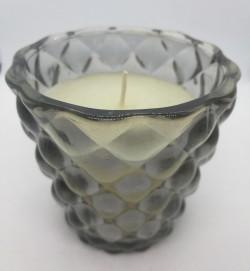 """Skleněný svícen se svíčkou Grey shadow"""" 15 x 13 cm"""""""