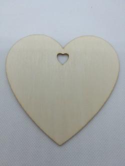 Srdce 10x10 cm, magnetka s vlastním věnováním